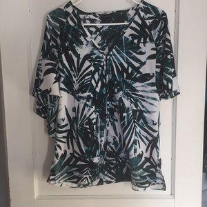 Women's palm leaf shirt